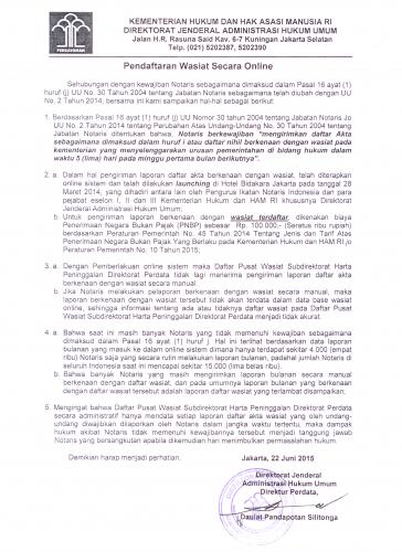 Bimbingan Teknis Laporan Bulanan Secara Online Bagi Notaris Se Dki Jakarta Kanwil Kementerian Hukum Dan Hak Asasi Manusia Dki Jakarta