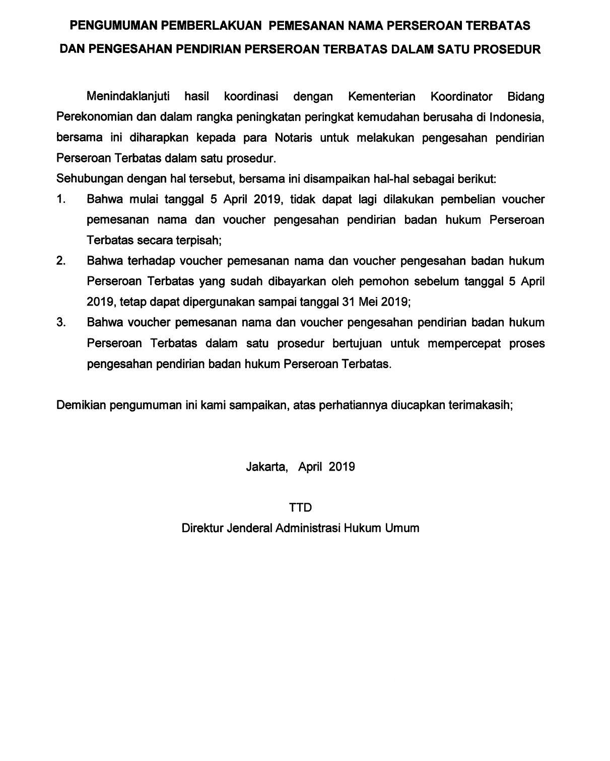 Beranda Direktorat Jenderal Administrasi Hukum Umum